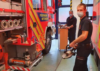 Andreas Merz und Christoph Ott bei der Feuerwehr Metzingen