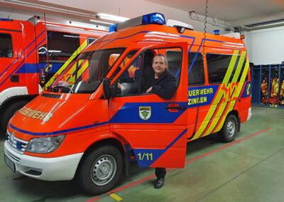 Hartmut Holder bei der Feuerwehr Metzingen