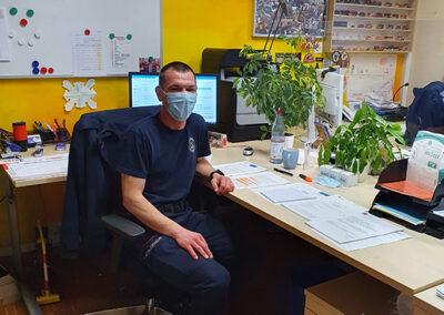 Jochen Wiedmann bei der Feuerwehr Metzingen