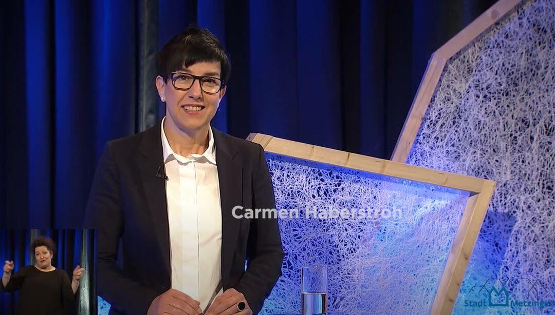 Carmen Haberstroh bei der Kandidatenvorstellung